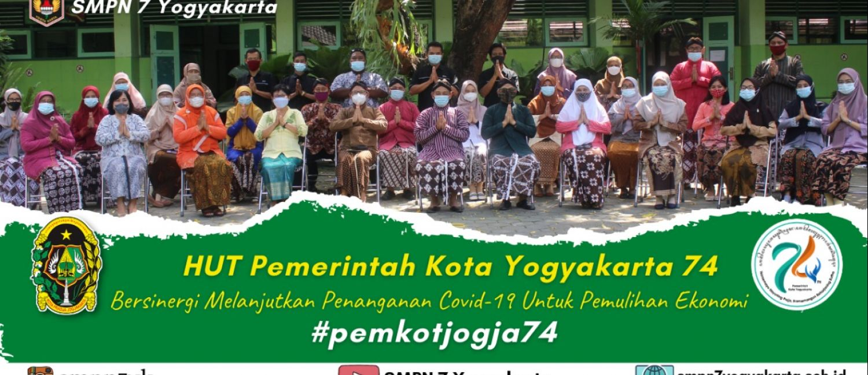 SMP N 7 Yogyakarta mengucapkan Selamat Hari Ulang Tahun Pemerintah Kota Yogyakarta ke 74