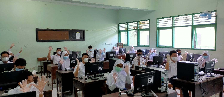 Laksanakan Simulasi ASPD 2021, SMP N 7 Yogyakarta Jalankan Protokol Kesehatan