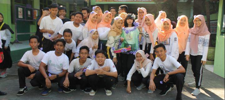 Upacara dan Jalan Sehat Menjadi Rangkaian Perayaan HUT SMP N 7 Yogyakarta ke-59