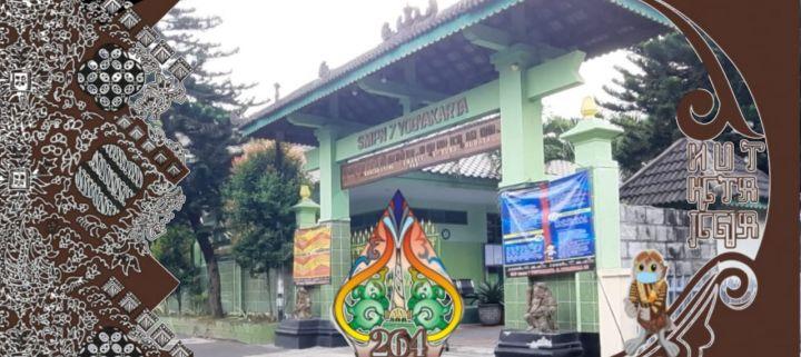 SMPN 7 Yogyakarta mengucapkan selamat ulang tahun ke - 264 Kota Yogyakarta tanggal 7 Oktober 2020