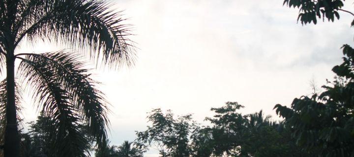 Senja dilangit Biru