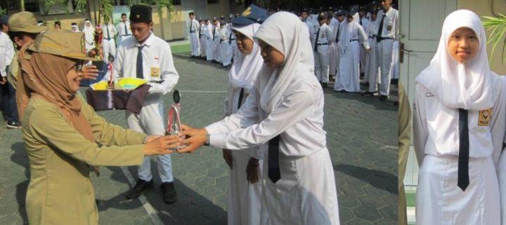 Potret Siswa Berprestasi - Salma Azizah Atlet Voli Dengan Berbagai Perolehan Kejuaraan